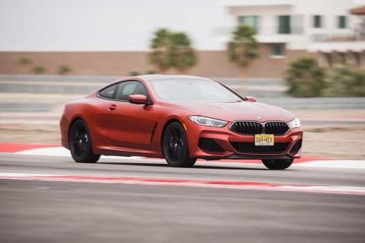 M850i storms on the road, surprises on track