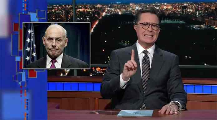 lanx civil war late show stephen colbert john kelly