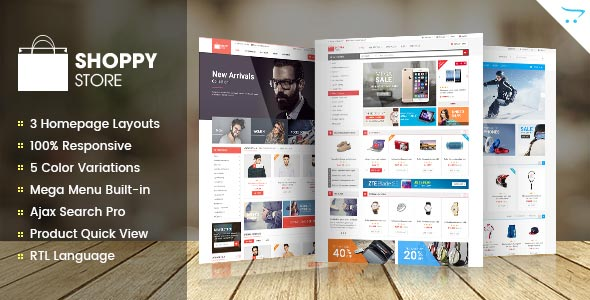 Free download ShoppyStore – Responsive Multipurpose OpenCart 2.x Theme