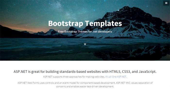 Free download Bootstrap asp template
