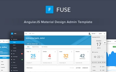 Fuse v1.4.3 – AngularJS Material Design Admin Template – HTML Template