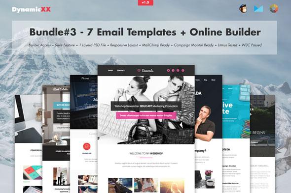 Bundle#3 – 7 Email Templates + Builder