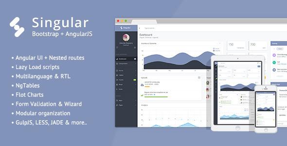 Singular – Bootstrap Admin Theme + AngularJS