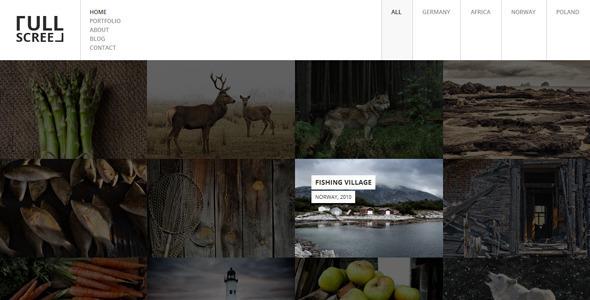 Fullscreen v1.1 – Photography Portfolio Drupal Theme