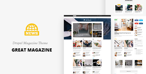 Great Magazine – Responsive Magazine News Drupal 8 Theme