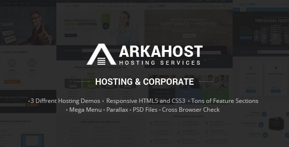 Arka Host – Responsive Hosting & Corporate Template