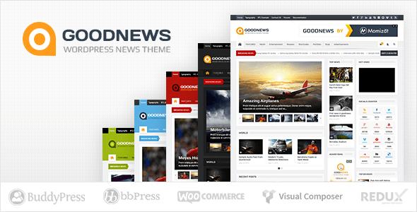 Goodnews 5.8.5.2 – Responsive WordPress News/Magazine