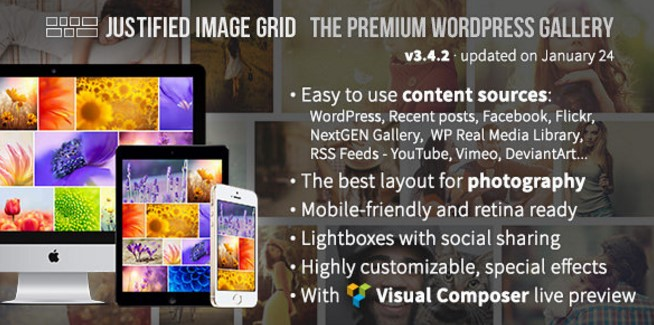 Justified Image Grid 3.4.2 – Premium WordPress Gallery