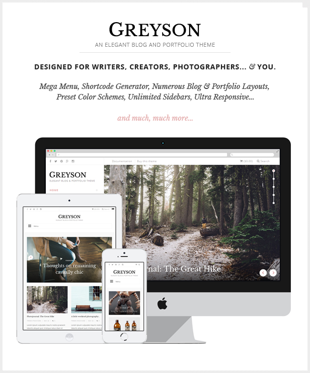 Designed for creatives, bloggers, photographers, and you.