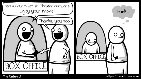 Awkwardness at the movies