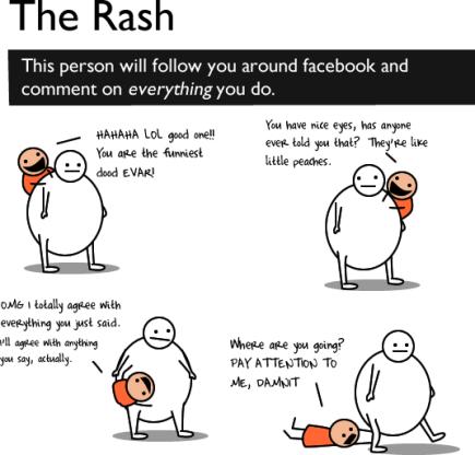 rash - Etiqueta no Facebook