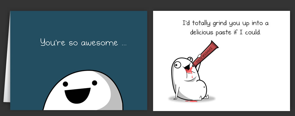 Horrible Cards Love And Valentine's Day Cards By The Oatmeal