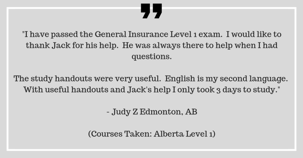 Alberta General Insurance Level 1 Practice Questions Pnc Learning