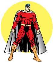 stock illustration - male superhero