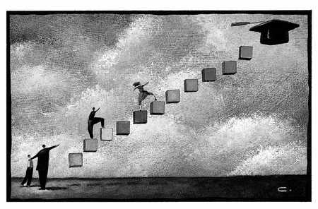 stock illustration students climbing
