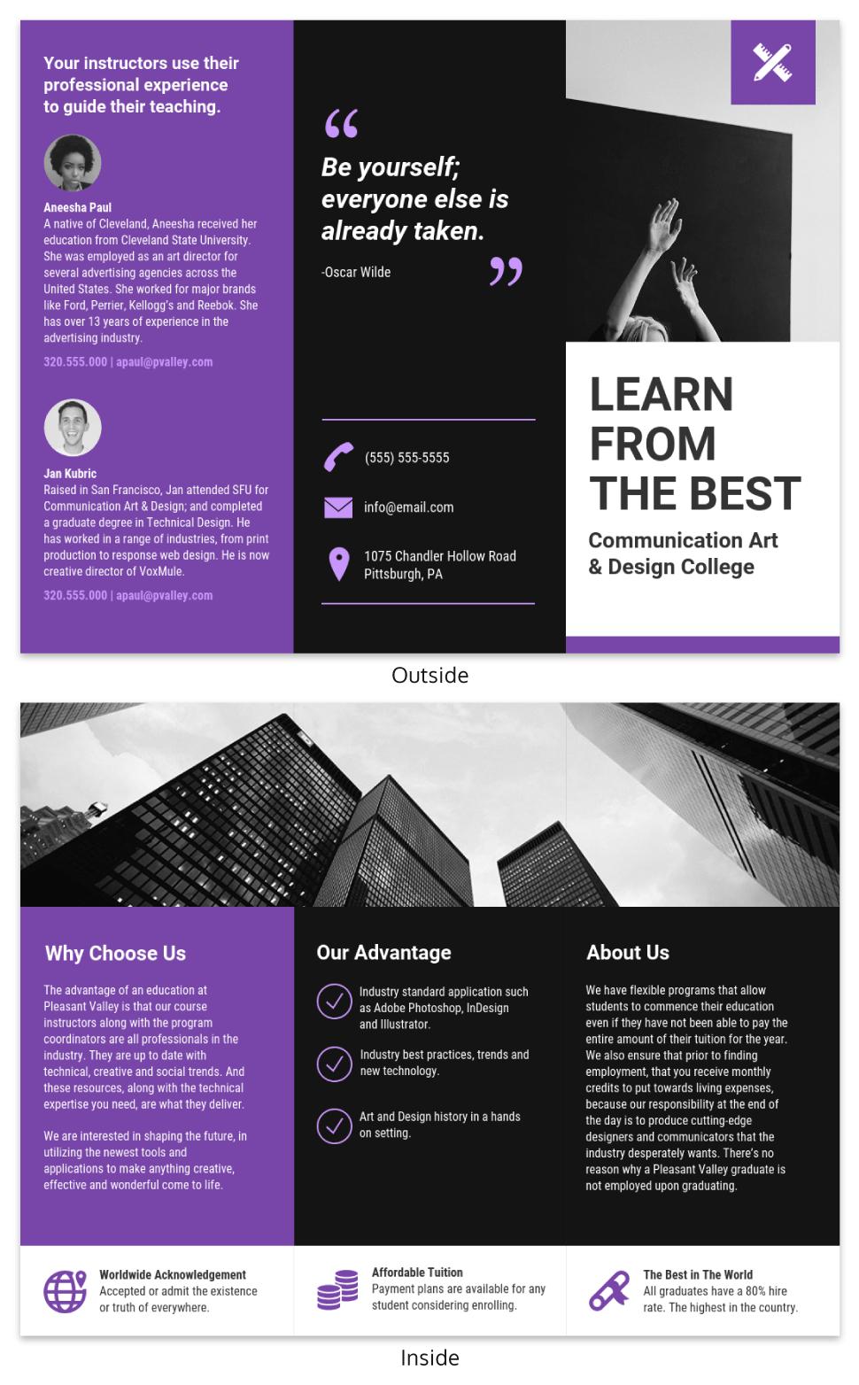 brochure samples design