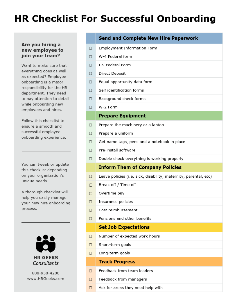 We're all headed toward an agent economy, where everyone becomes an agent or a service provider instead of an employee … it's like telecommuting, but it's taken to the level of telecompanies. New Hire Onboarding Hr Checklist Template