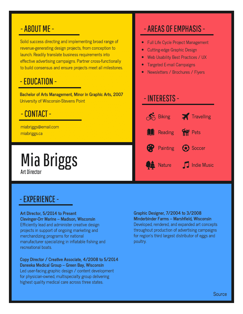 abstract resume templates