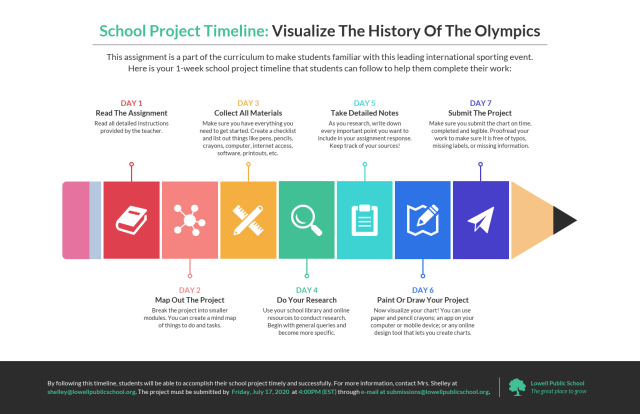 School Project Timeline Assignment Infographic Template