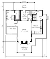 Garden Home Cottage - | Southern Living House Plans
