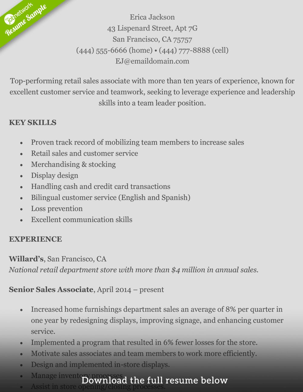 Good Skills To Write On Resume How To Write A Perfect Retail Resume Examples Included