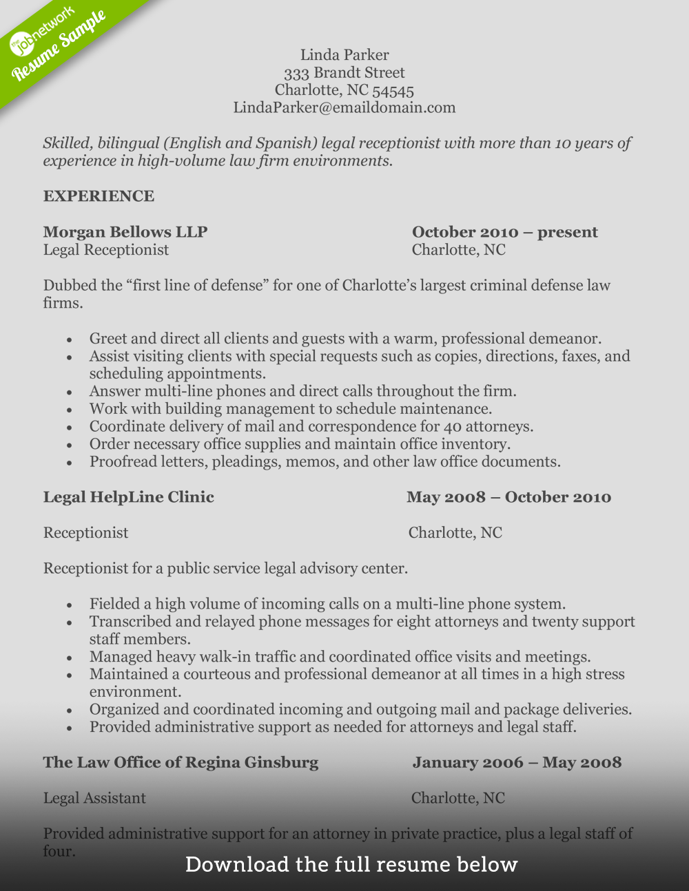 Resume Examples For Free How To Write A Perfect Receptionist Resume Examples Included