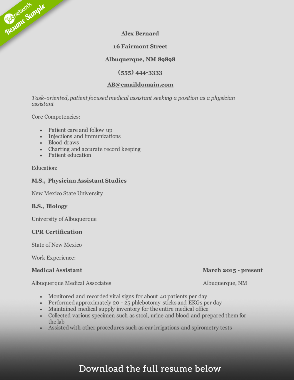 Physician Resumes How To Write A Perfect Physician Assistant Resume Examples Included