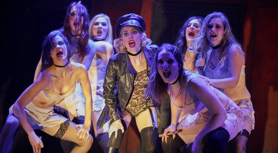 kit kat girls performing onstage