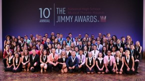 80 nominees from 24 states pose pre-show at the Minskoff Theatre in New York.