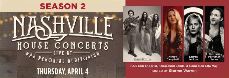 Nashville House Concerts April 2019 featuring Sara Evans, Ashley Campbell, Lauren Jenkins, and Matthew Perryman Jones