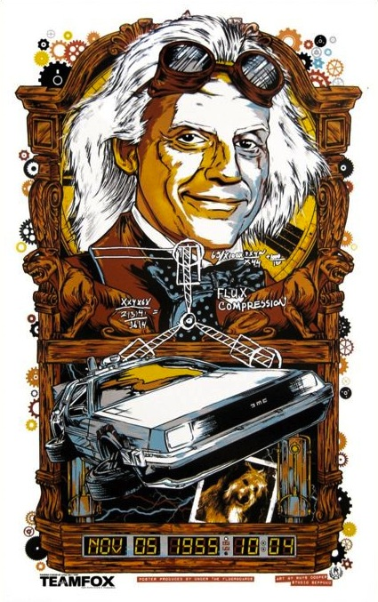 Back To The Future Iphone X Wallpaper Back To The Future Screenprint By Rhys Cooper Trampt Library