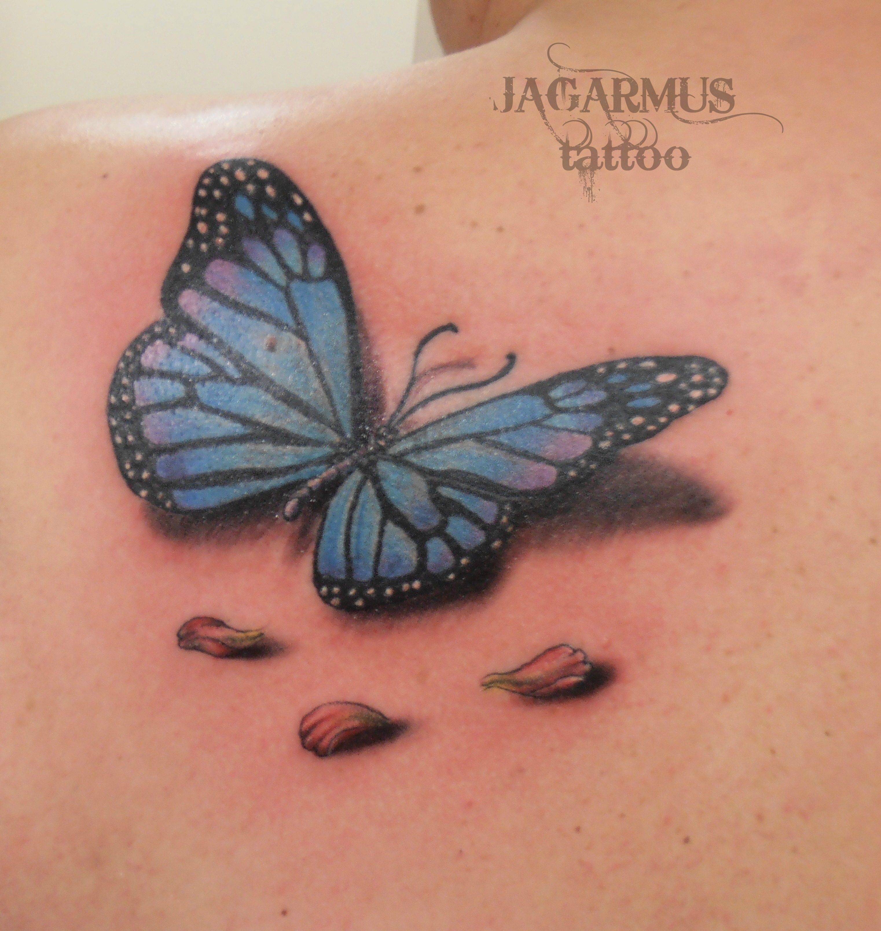 Tattoo Mariposas 3d D Colorful Butterfly Tattoo On Wrist With