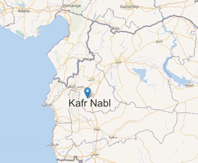ubicación de ciudad de kafr nabl