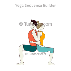 Yoga Chair Pose White Universal Covers Back To Sequences Benefits Variations