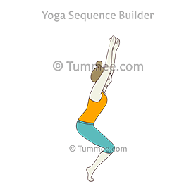 yoga chair pose slingback cushions on tiptoes utkatasana sequences