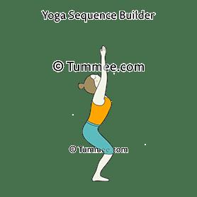 yoga chair pose fishing umbrella utkatasana sequences benefits variations