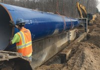Contractor Installs Large Diameter Pipeline