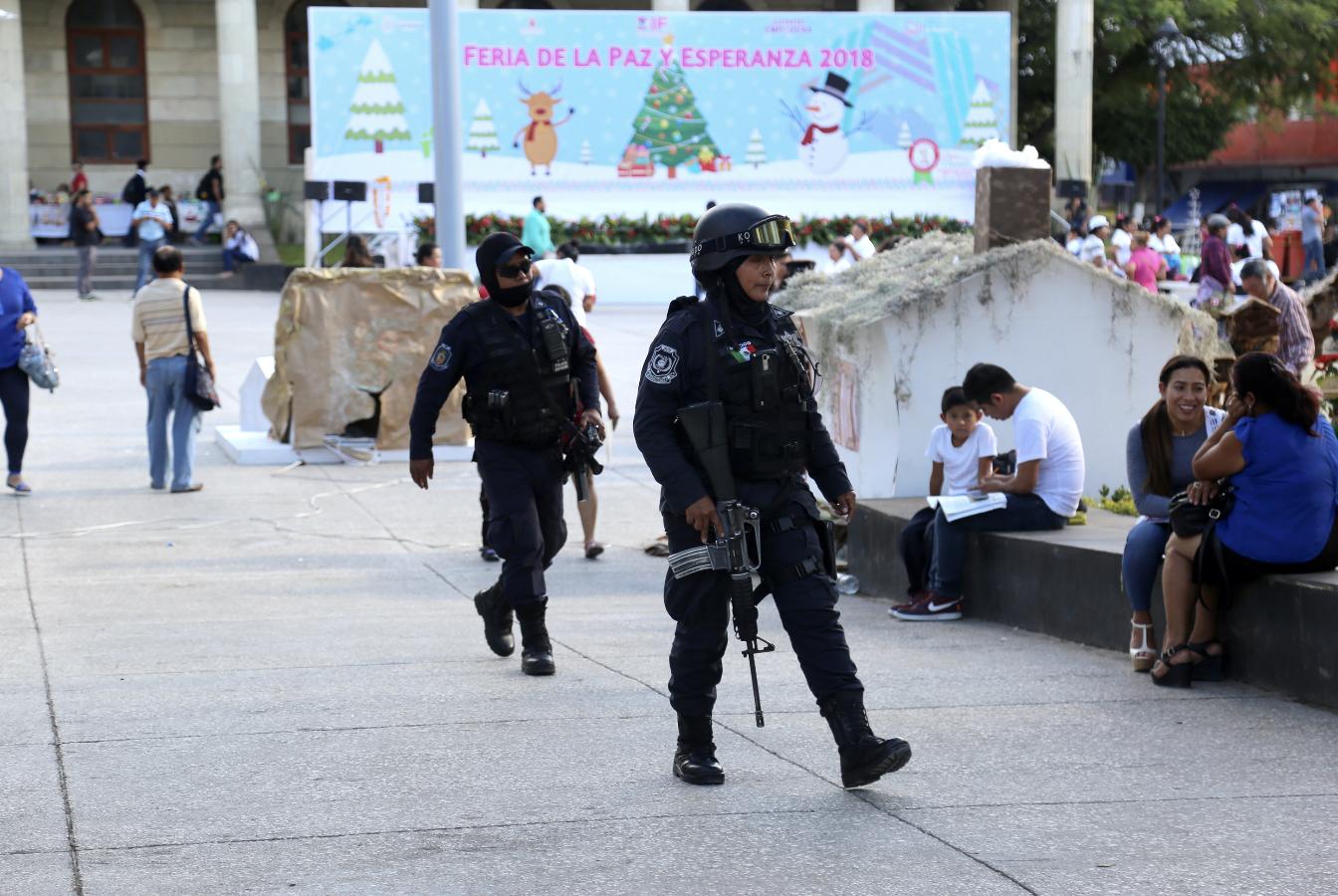 policias zocalo chilpancingo