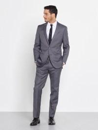 Black Tie Grey Suit Dress Yy