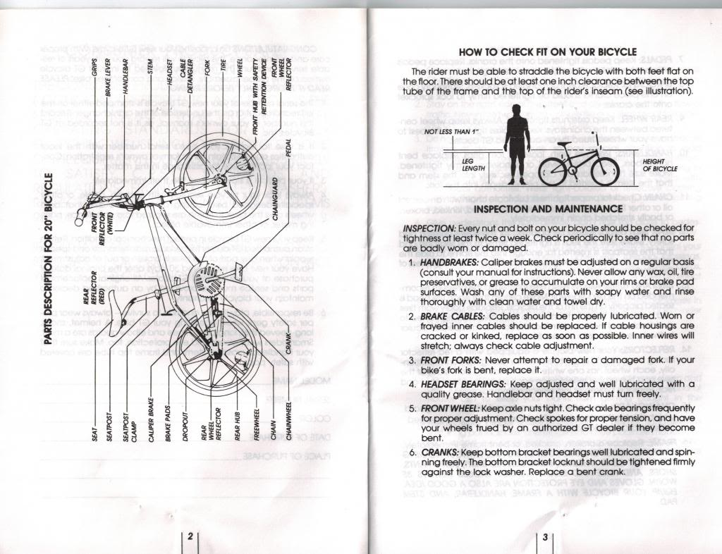 GT / DYNO Owner's Manual 1997 or 1998, came with my Mach