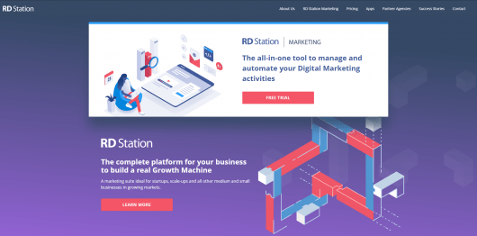 marketing automation tools - RD Station website