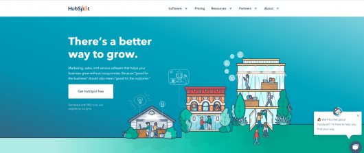 marketing automation tools - HubSpot website