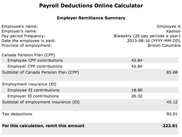 online calculator payroll