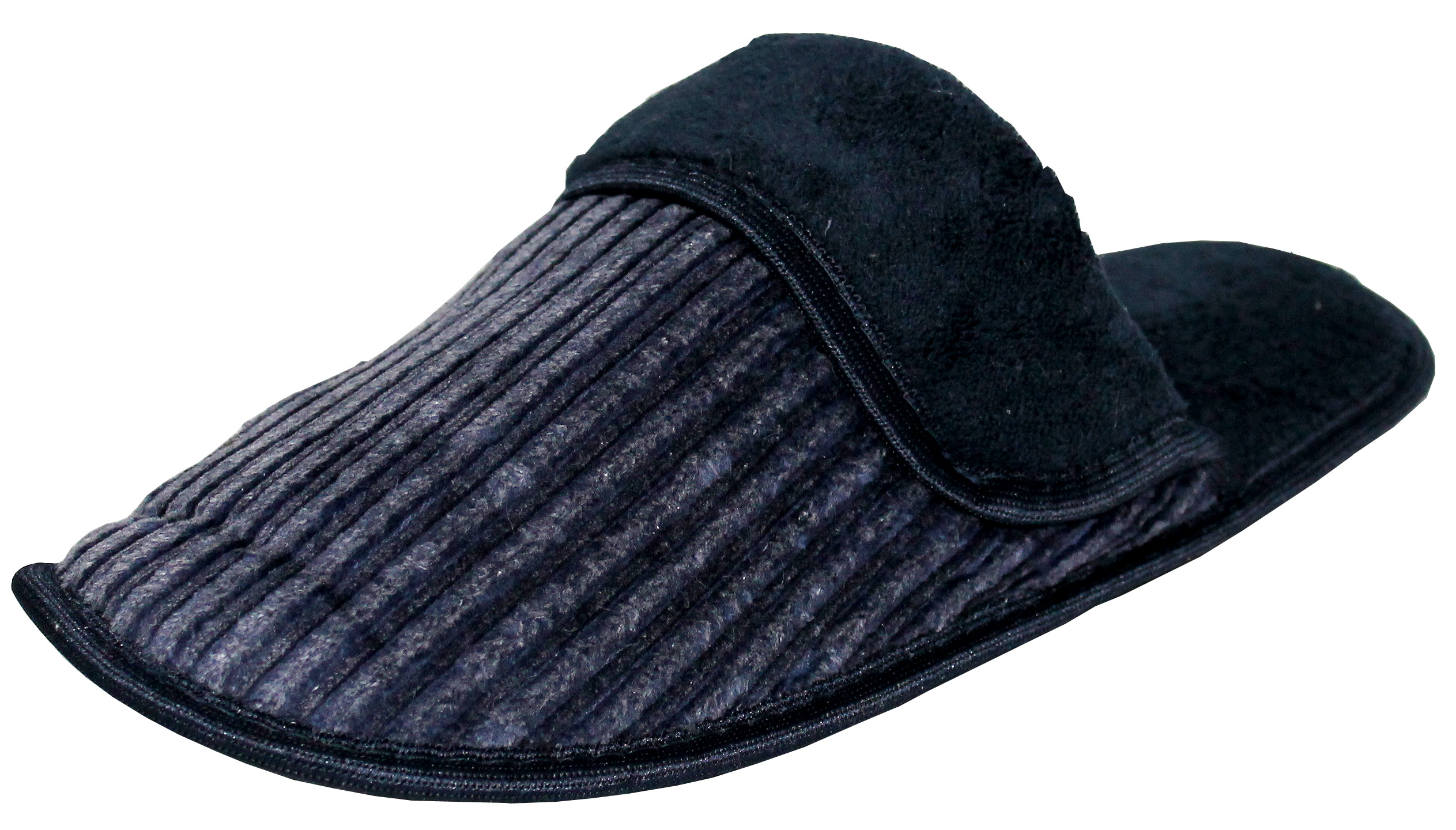 men's corduroy slip-on backless house slippers w/ slight padded