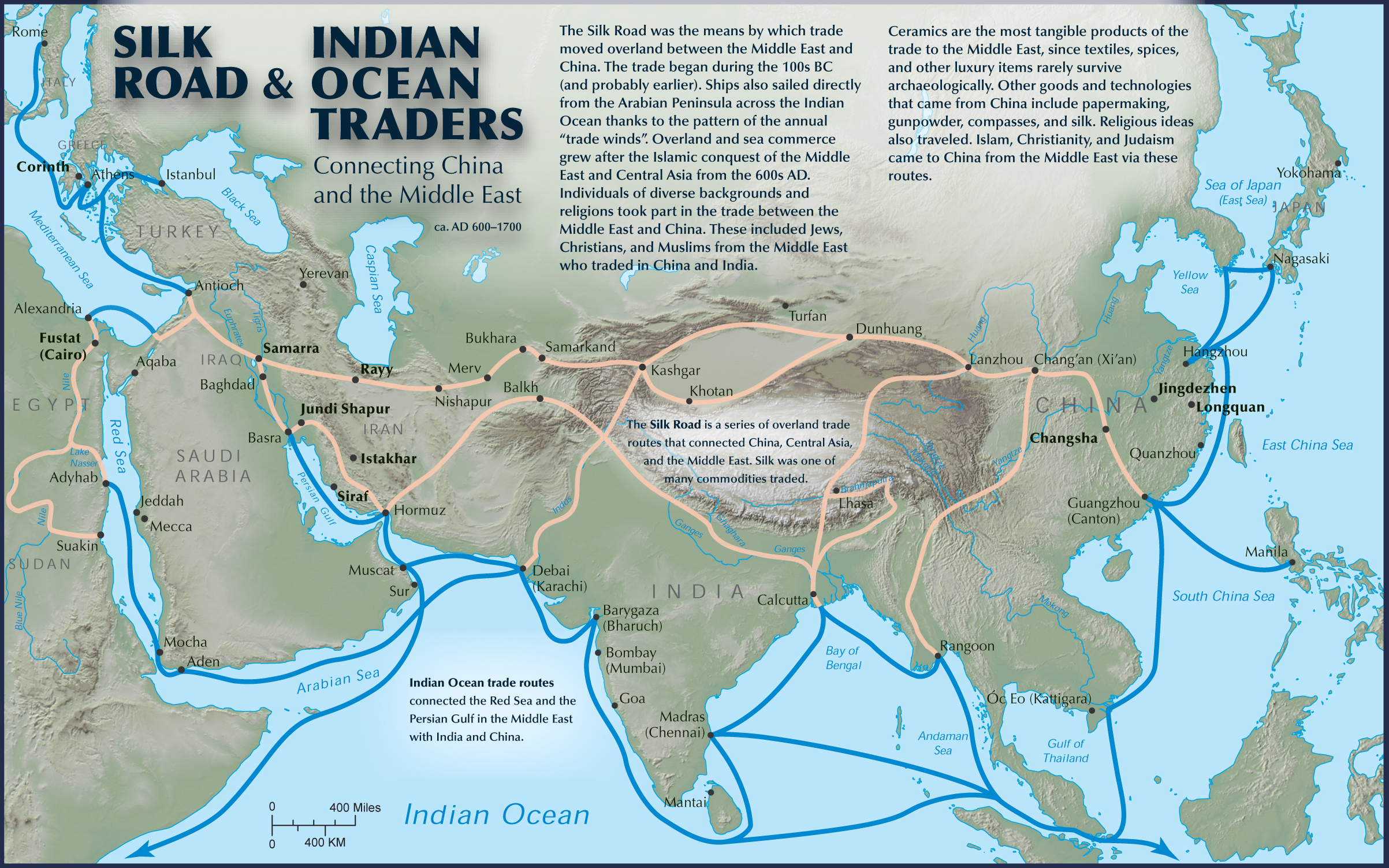 How Were The Indian Ocean Routes And Silk Routes Similar