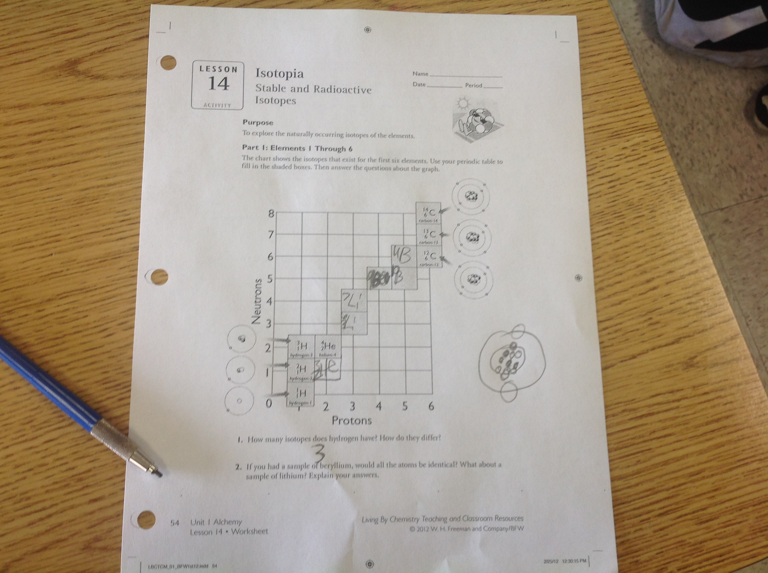 Isotopes Worksheet Answers Part 3
