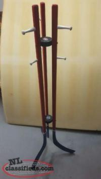 Mtl Canadiens Hockey Stick Coat Rack - excellent condition ...