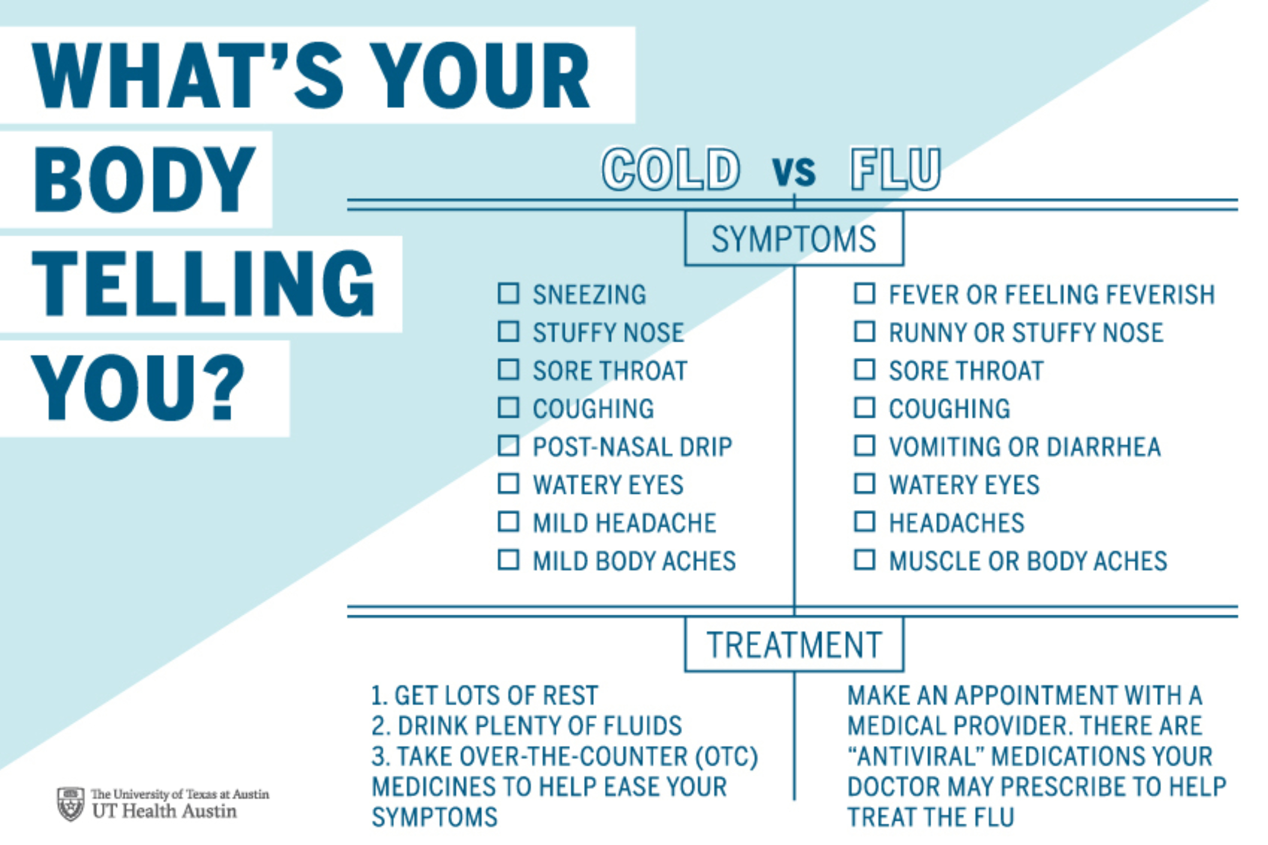 Know the difference between a cold and the flu   UT Health ...