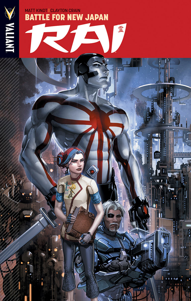 Rai Vol. 2 TPB, cover by Clayton Crain