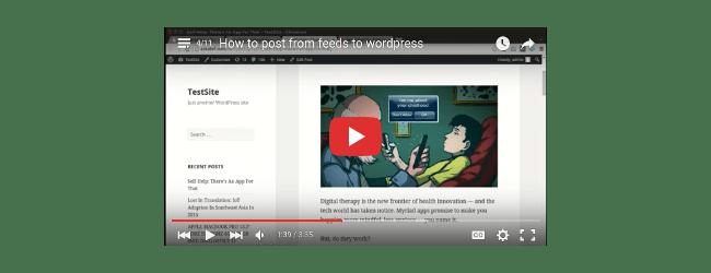 Como publicar de feeds para wordpress